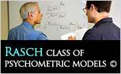 Rasch class of psychometric models